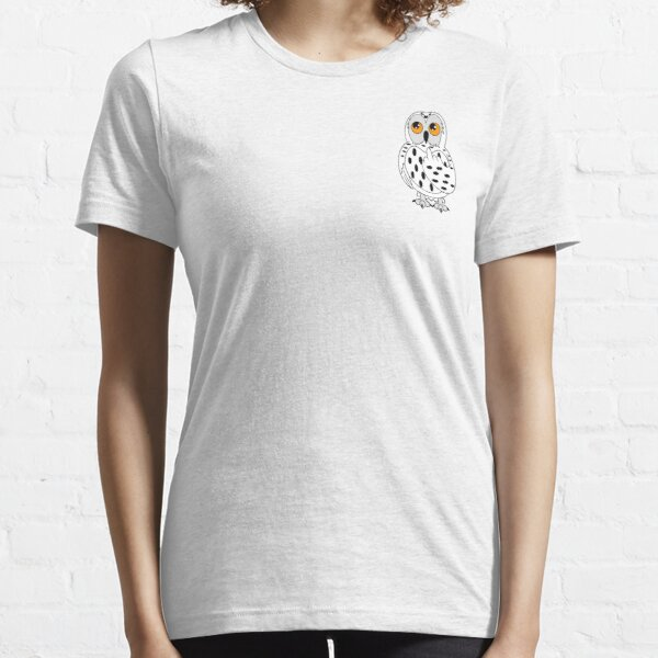 Wise Snowy Owl Giving the Finger Design Essential T-Shirt