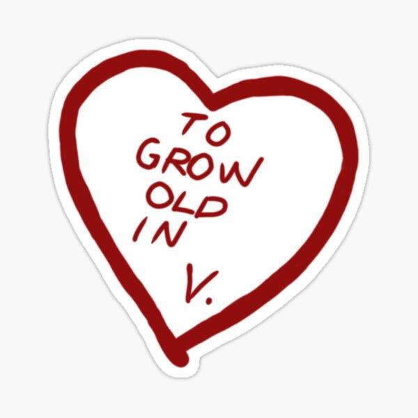 Envejecer en V. Pegatina