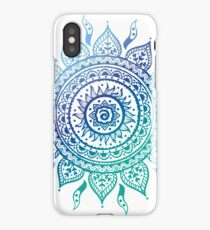 Blue Gradient Mandala  iPhone Case