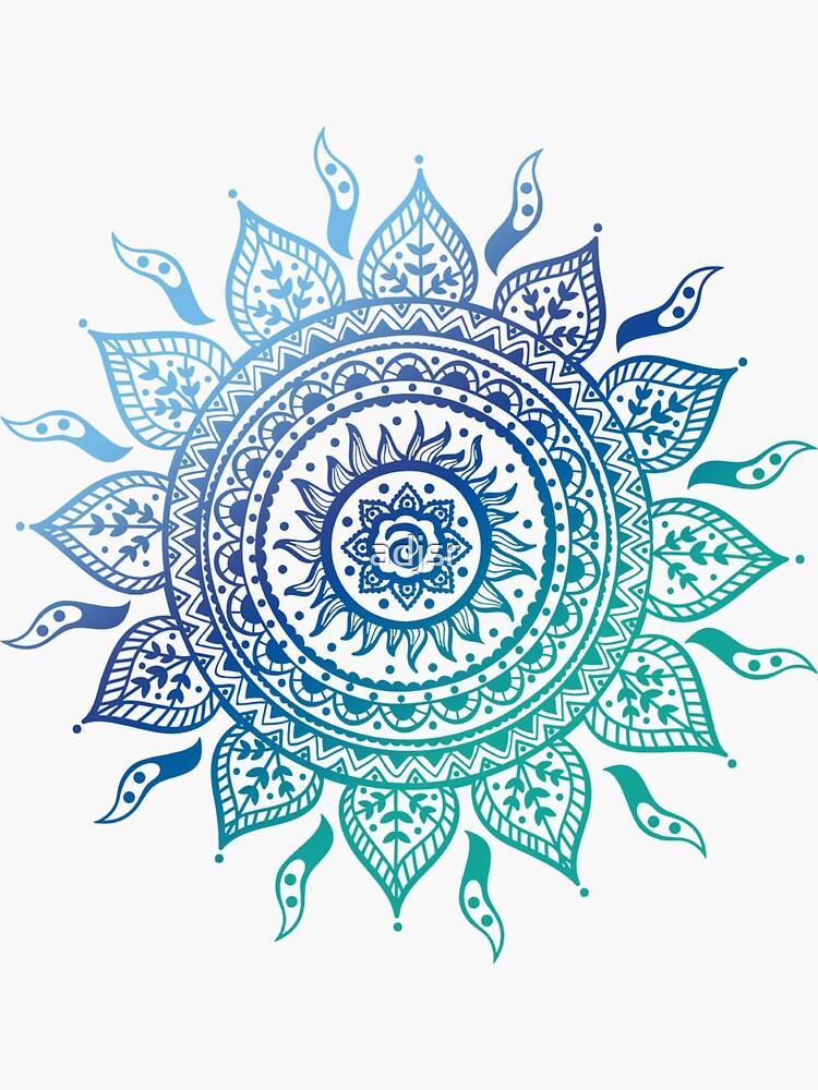 «Mandala dégradé bleu» par adjsr