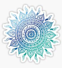 Pegatina Blue Gradient Mandala