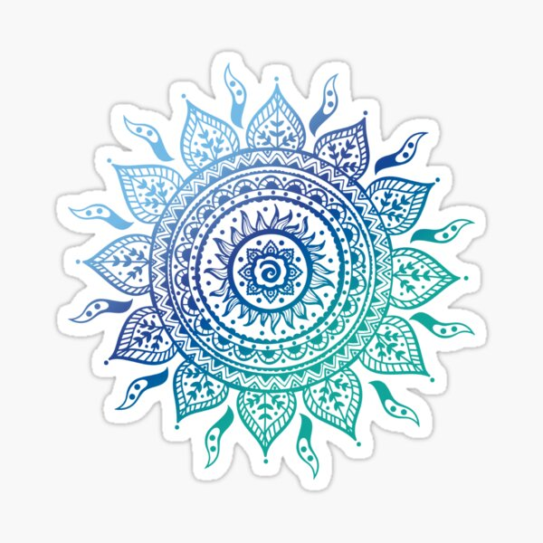 Blue Gradient Mandala  Sticker