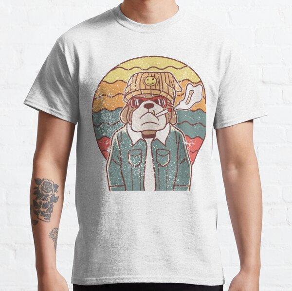 Bulldog smoking, bulldog, cool dog owner gift, funny dog, retro vintage graphic, dog lovers, english bulldog Classic T-Shirt