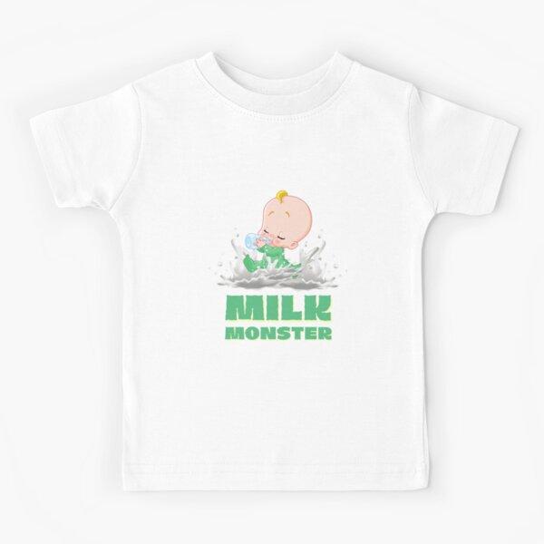 Milk Monster in Green Kids T-Shirt
