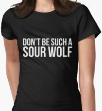 Sour Wolf - white text Womens Fitted T-Shirt