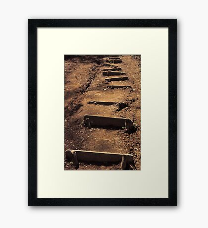 The only way to go... Framed Print