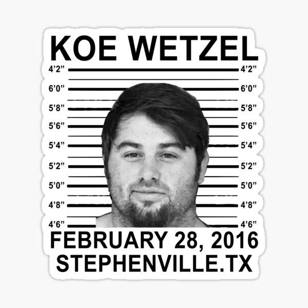 koe wetzel feb 28 2016 wasted Sticker