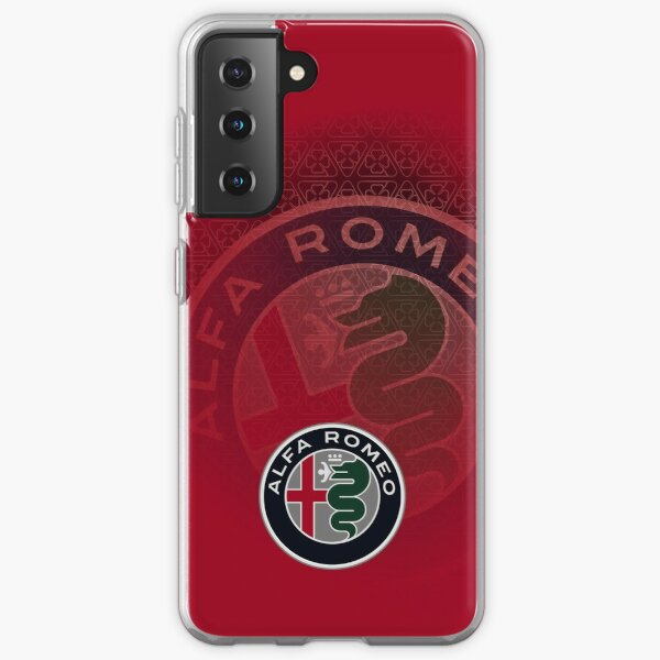 Art Alfa Romeo Quadrifoglio Coque souple Samsung Galaxy