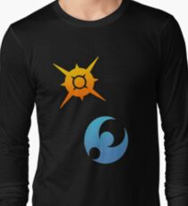 Pokemon Sun and Moon Symbols Long Sleeve T-Shirt