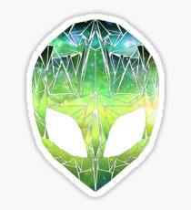 Geo Space Alien - Green Sticker