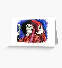 Phantom Red Death Greeting Card