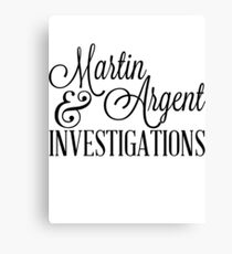 Martin & Argent Investigations v2 Canvas Print