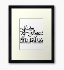 Martin & Argent Investigations Framed Print