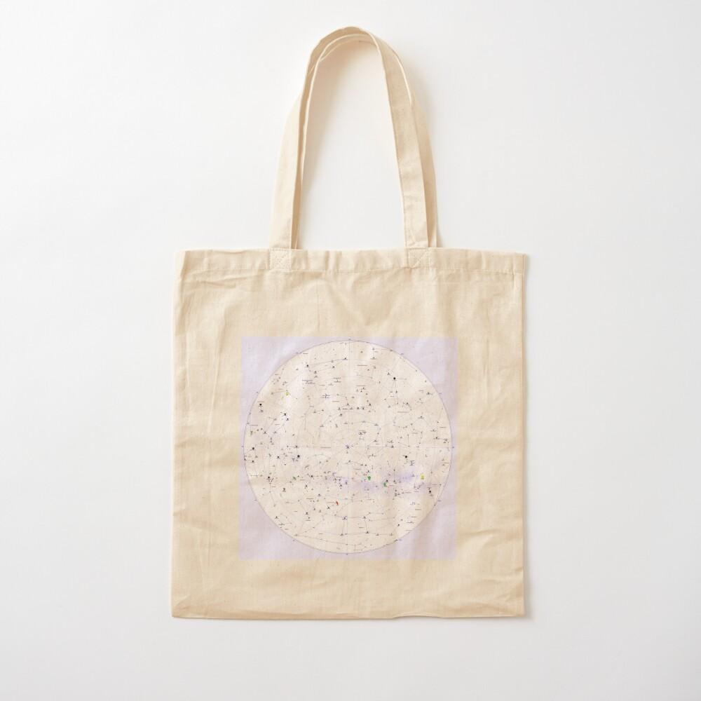 Constellation Map, ssrco,tote,cotton,canvas_creme,flatlay,square,1000x1000-bg,f8f8f8