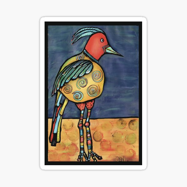Lolly legged bird Sticker