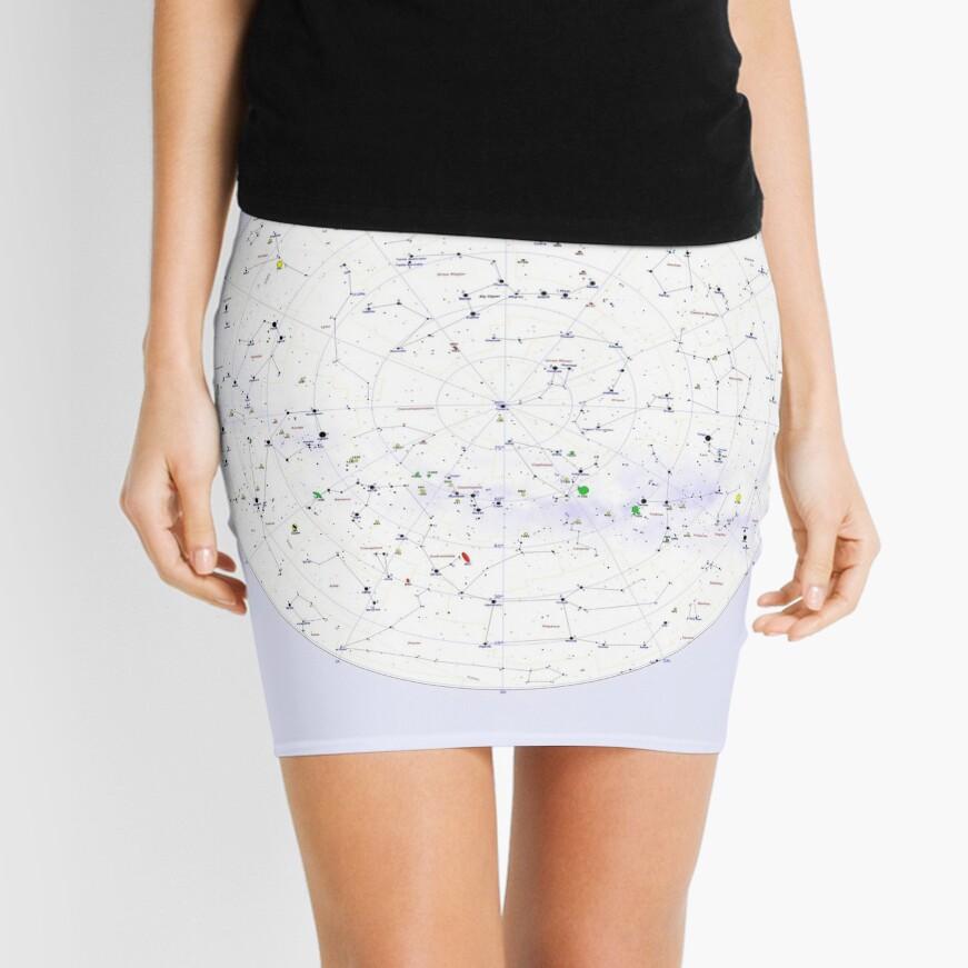 Constellation Map, pencil_skirt,x1000,front-c,378,0,871,871-bg,f8f8f8