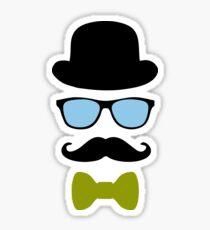 Mustache disguise Hipster retro vintage graphic Sticker
