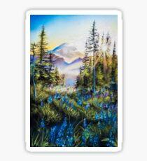 Pastel Mountains Sticker
