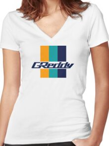 Greddy Women's Fitted V-Neck T-Shirt