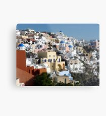 Beautiful Houses of Santorini Metal Print