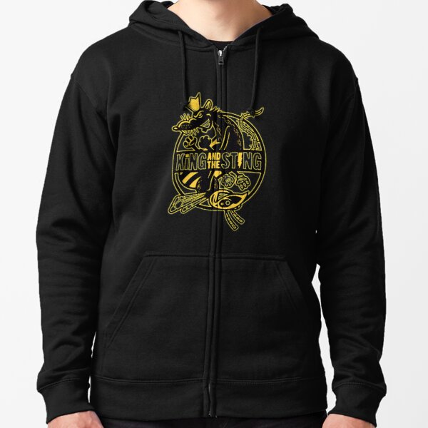 King And The Sting Zipped Hoodie