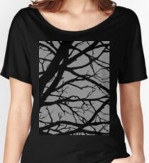 Silver Grey Tree Women's Relaxed Fit T-Shirt