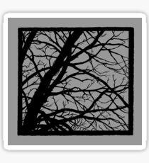 Silver Grey Tree Sticker