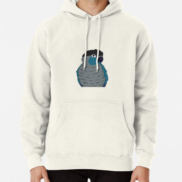 Turquoise green cheek conure Pullover Hoodie
