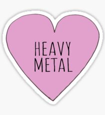 HEAVY METAL LOVE Sticker