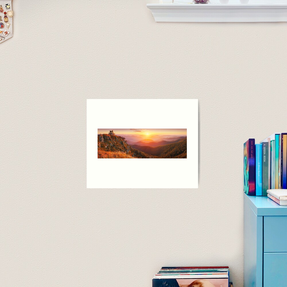 Pinnacles Fire Lookout, Alpine National Park, Victoria, Australia Art Print