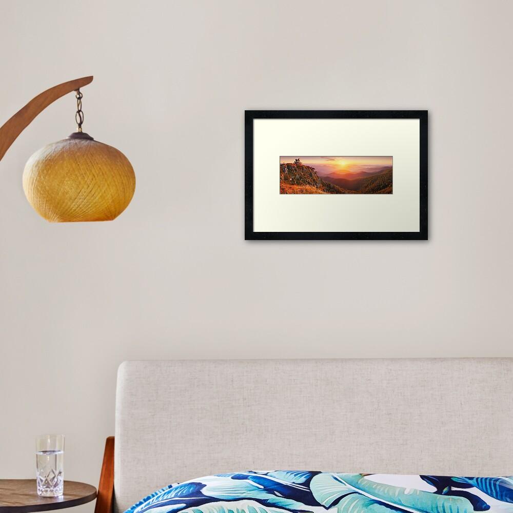 Pinnacles Fire Lookout, Alpine National Park, Victoria, Australia Framed Art Print