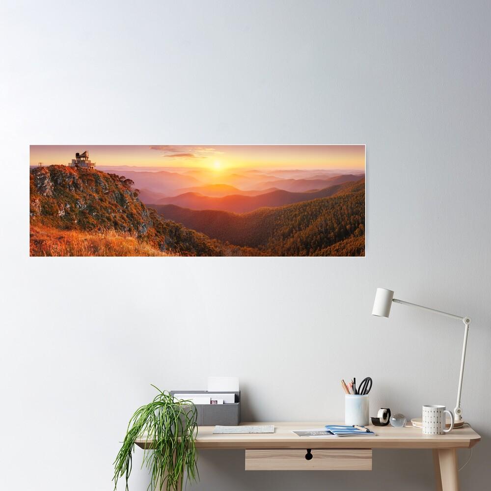 Pinnacles Fire Lookout, Alpine National Park, Victoria, Australia Poster