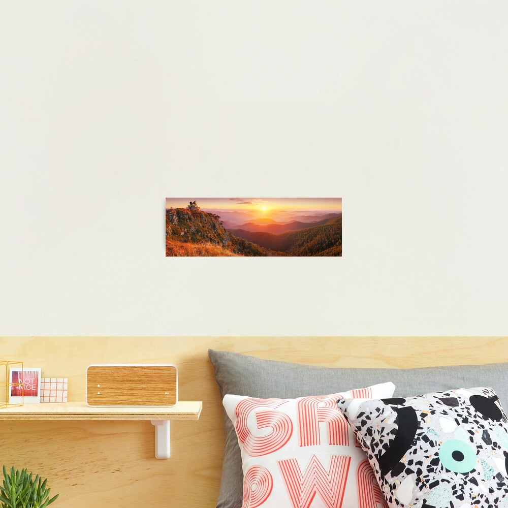 Pinnacles Fire Lookout, Alpine National Park, Victoria, Australia Photographic Print