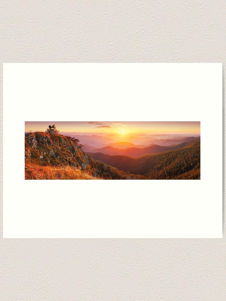 Alternate view of Pinnacles Fire Lookout, Alpine National Park, Victoria, Australia Art Print