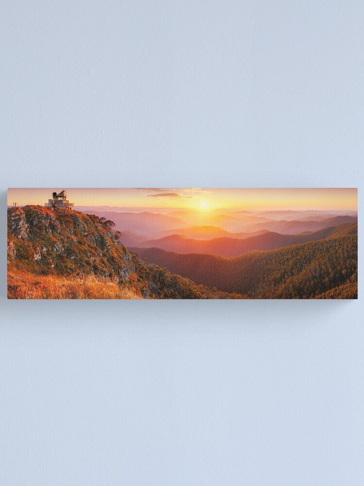 Alternate view of Pinnacles Fire Lookout, Alpine National Park, Victoria, Australia Canvas Print