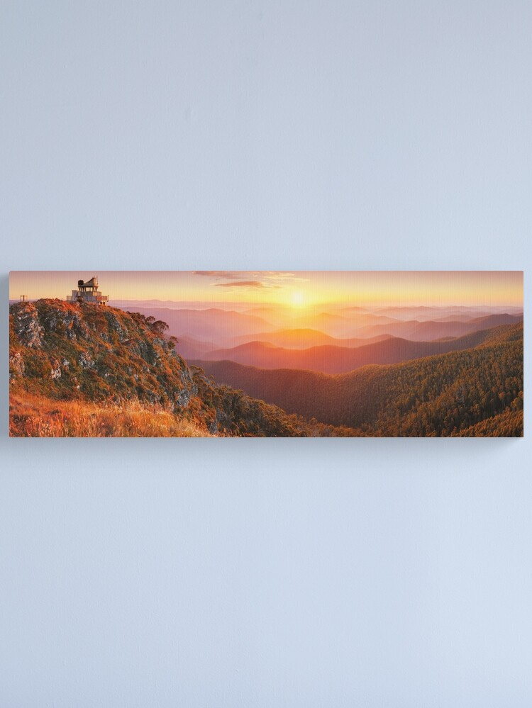Alternate view of Pinnacles Fire Lookout, Alpine National Park, Victoria, Australia Canvas Print