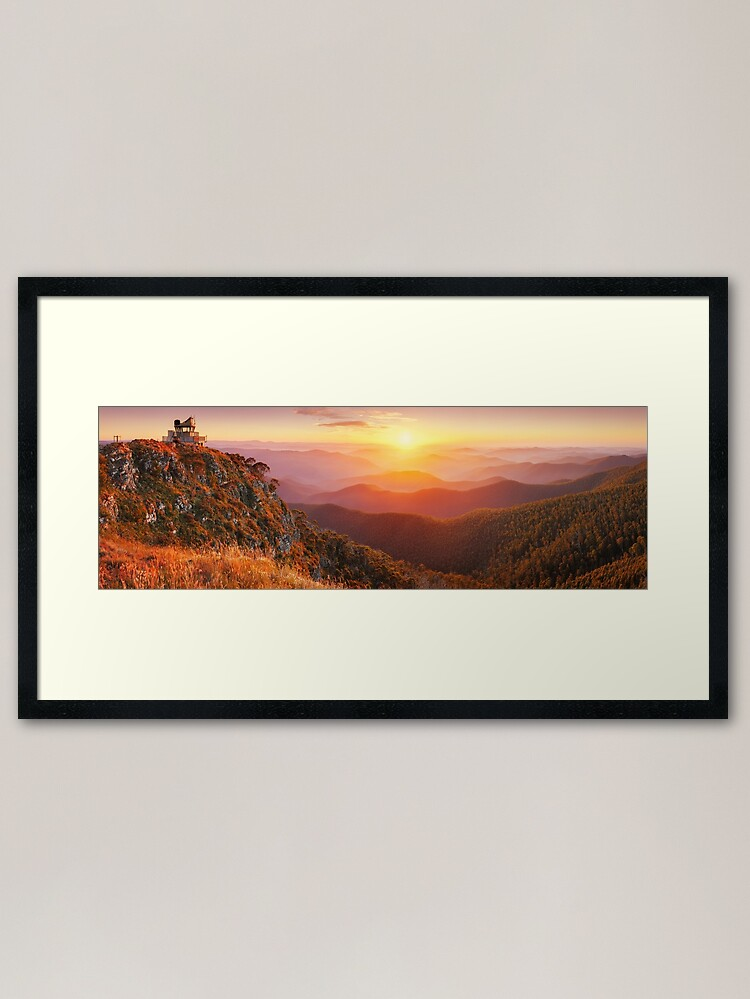 Alternate view of Pinnacles Fire Lookout, Alpine National Park, Victoria, Australia Framed Art Print