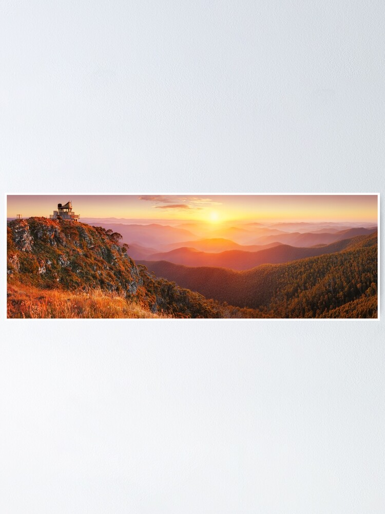 Alternate view of Pinnacles Fire Lookout, Alpine National Park, Victoria, Australia Poster