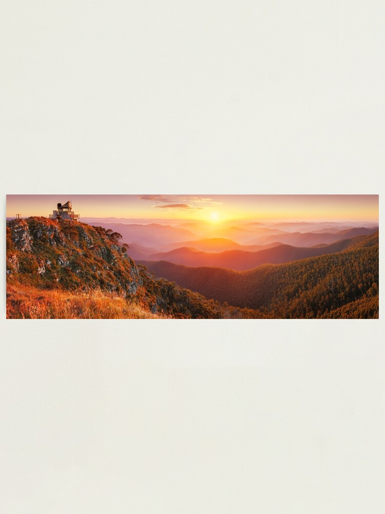 Alternate view of Pinnacles Fire Lookout, Alpine National Park, Victoria, Australia Photographic Print