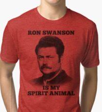 Ron Swanson is my spirit animal Tri-blend T-Shirt