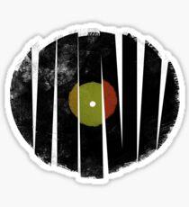 Cool Broken Vinyl Record Grunge Vintage Sticker