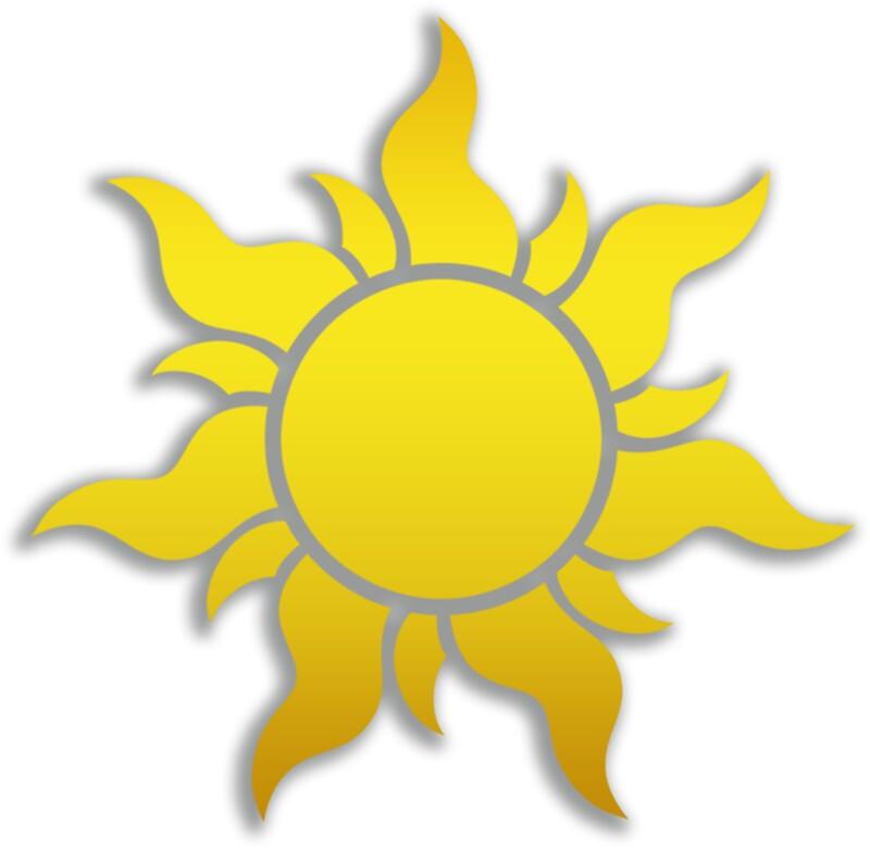 Quot Tangled Kingdom Sun Emblem 2 Quot Stickers By Jeffery