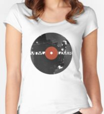 Vinyl Records Lover - Grunge Vinyl Record Women's Fitted Scoop T-Shirt