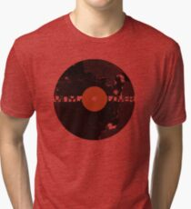 Vinyl Records Lover - Grunge Vinyl Record Tri-blend T-Shirt