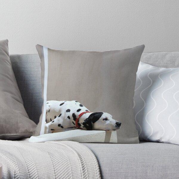 Dalmatian, Oia, Santorini Throw Pillow