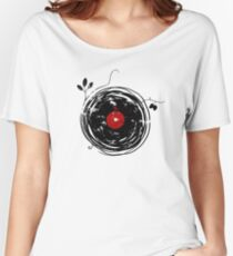 Cool Grunge Enchanting Vinyl Records Vintage Women's Relaxed Fit T-Shirt