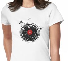 Cool Grunge Enchanting Vinyl Records Vintage Womens Fitted T-Shirt