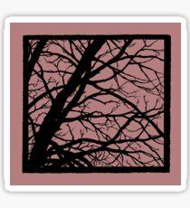 Dark Pink Lavender Tree Sticker