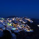 Santorini Night View by BC Family