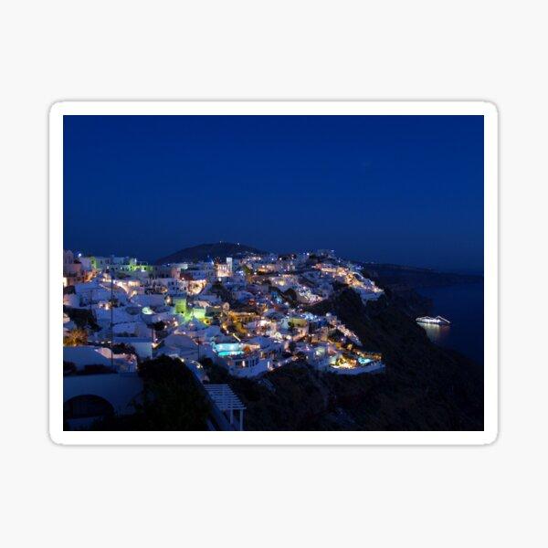 Santorini Night View Sticker